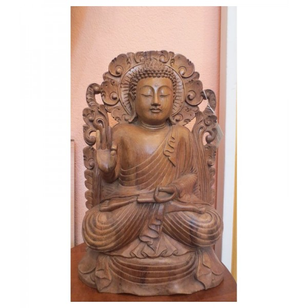 Buddha flowers in legno...