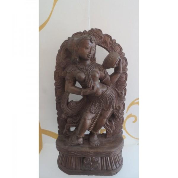Statua in legno scolpito...