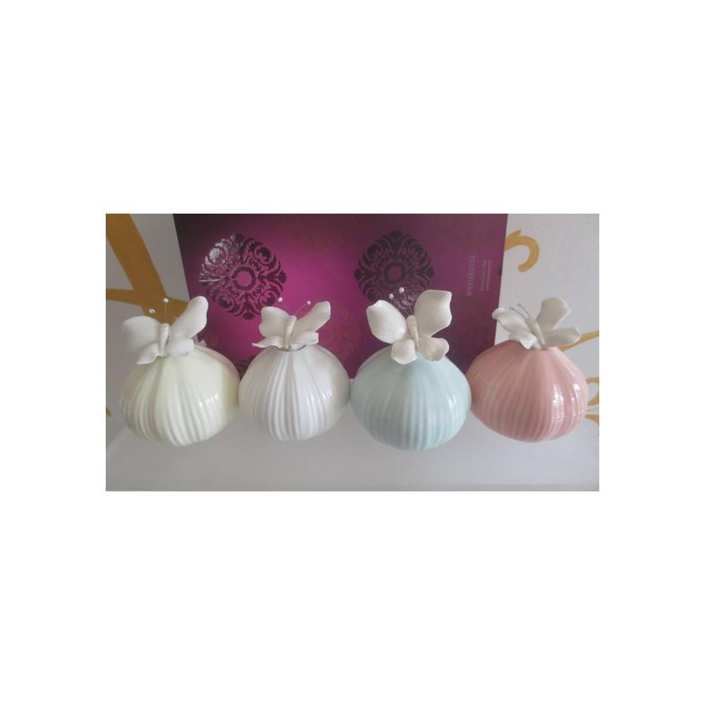 Cestino natalizio ceramica